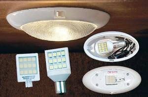 RV interior LED lights