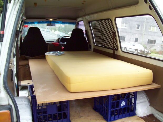 Simple camper van - Photo Credit: instructables.com