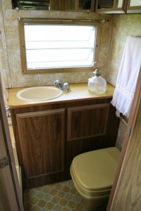A working toilet is essential in an RV bathroom.