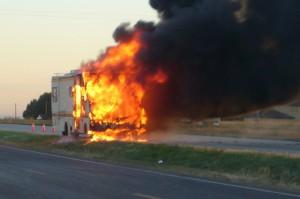 Fire In A RV
