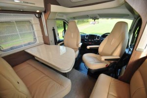 Seating in a motor home