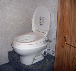 RV Toilet - Photo Credit: RVingWithPleasureland.com