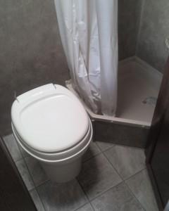 A fairly standard RV shower set up.