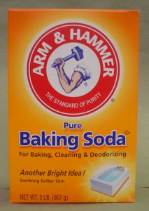 Baking soda for odor removal