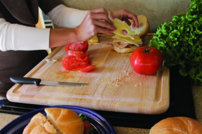 Camco Hardwood Stove Topper:Cutting Board