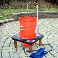 DIY camp sink