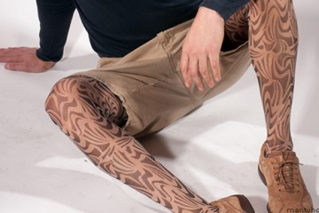 Patterned mantyhose