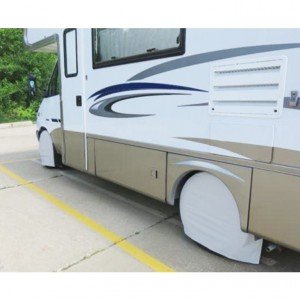 Rv tire covers installed