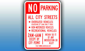 No Parking for Oversized Vehicles