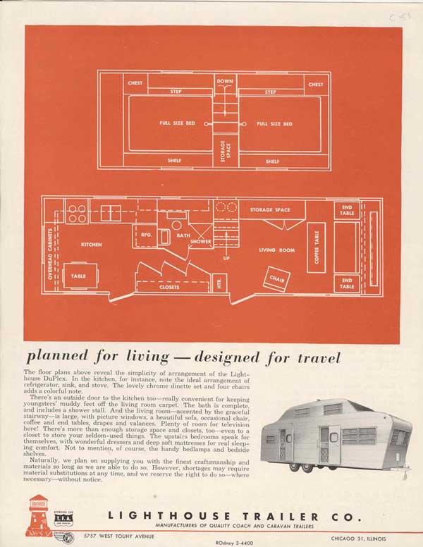 Vintage Trailer Floor Plan