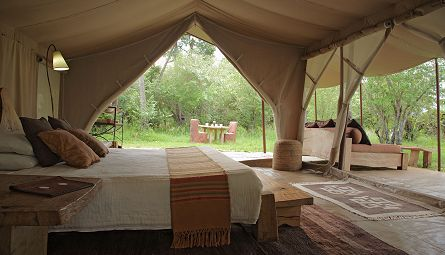 canvas and wood tent