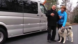 Mike and Jennifer Wendland with their brand new Roadtrek CS Adventurous.