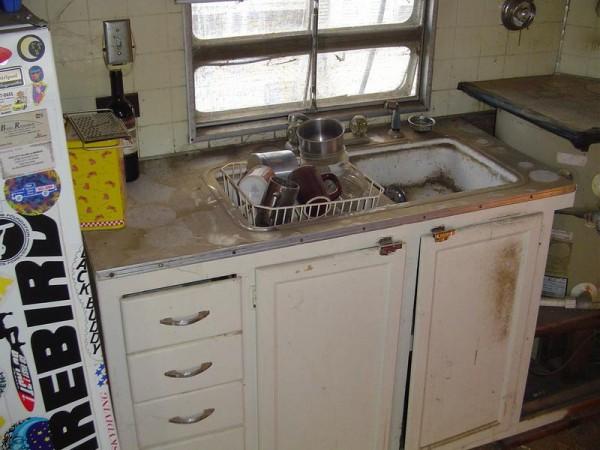 Vintage Trailer Kitchen Sink