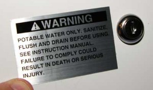 potable water warning