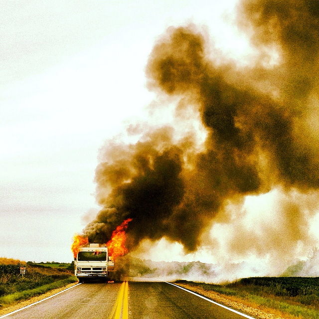 rv on fire