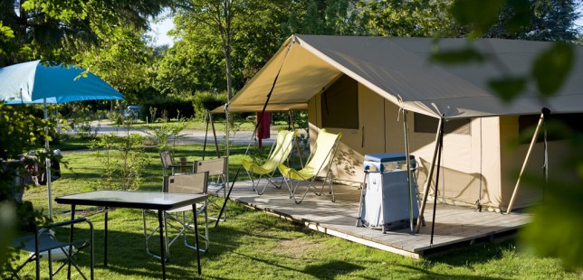 wood and canvas tent