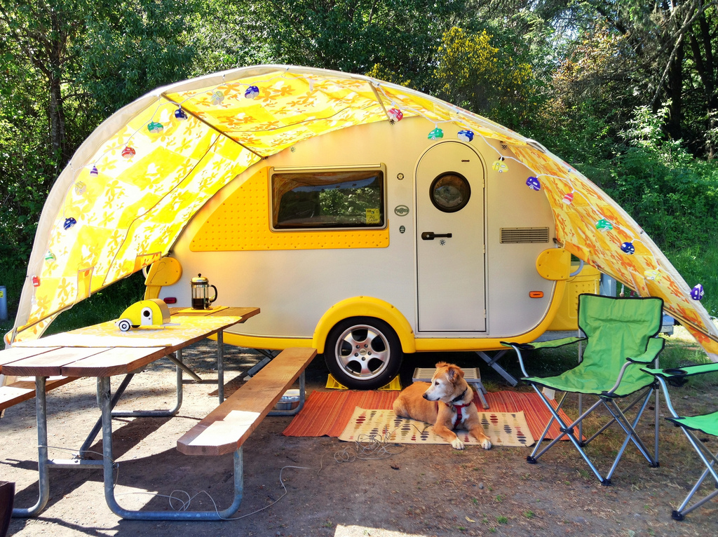 Would You Live In A Teardrop Trailer This Lady Loves It Rvsharecom