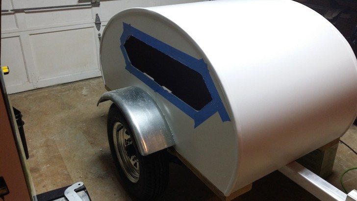 After-installing-the-boat-window-into-the-doggie-teardrop-camper