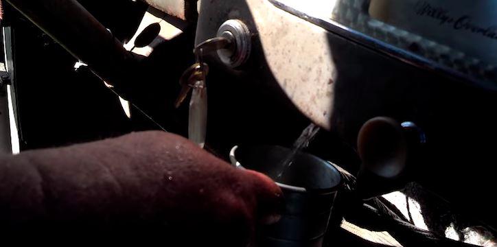 Dashboard moonshine dispenser