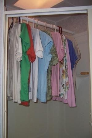 Dry clothes in the shower