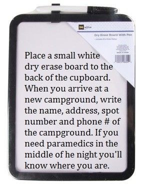 Dry erase board for your emergency contacts