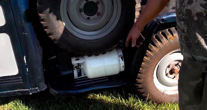 External propane tank
