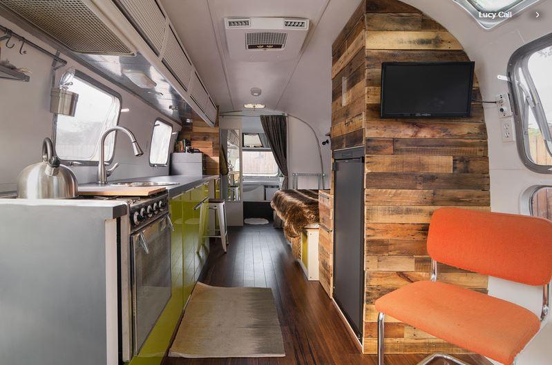 Interior of vintage Airstream