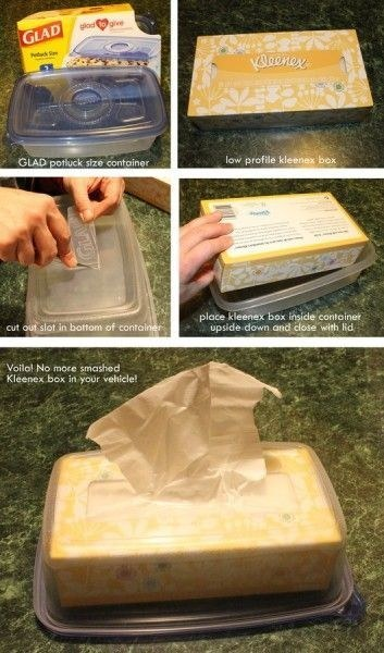 Keep your Kleenex box from getting squashed