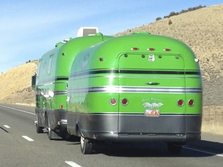 Green Trailer and RV
