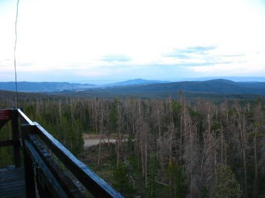 View from Spruce Mountain Fire look out tower