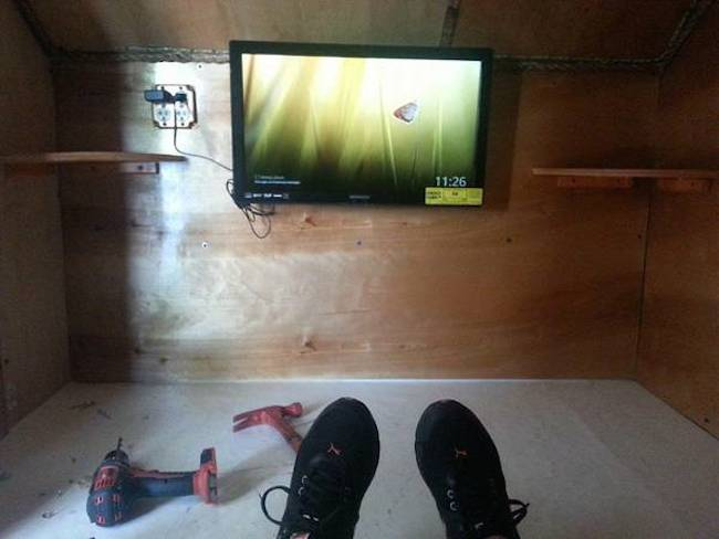 flat screen tv in the camper