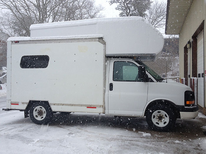 Kim Used A Cheap UHaul Truck To Build Her Home - RVshare com