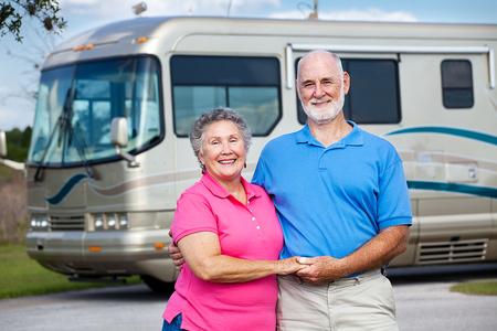 bigstock-Seniors-And-Luxury-Motor-Home-5695853