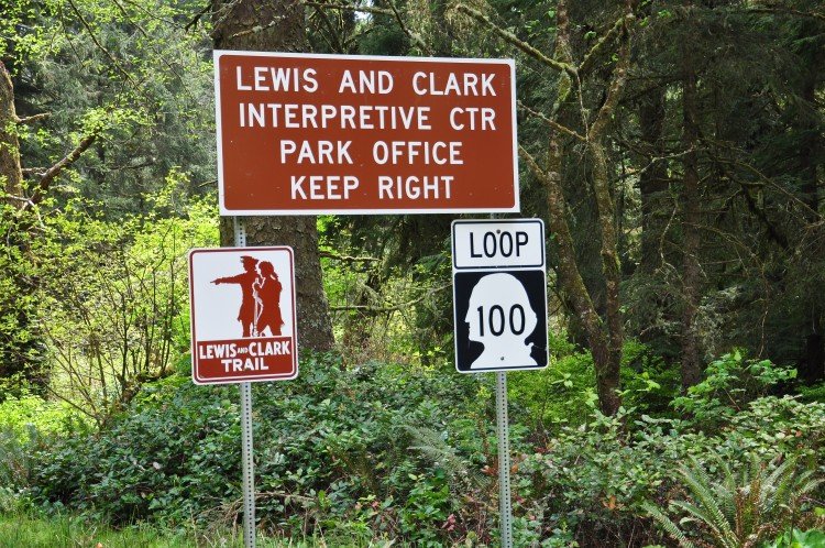 WA-100_and_Lewis_and_Clark_Trail_at_Cape_Disappointment