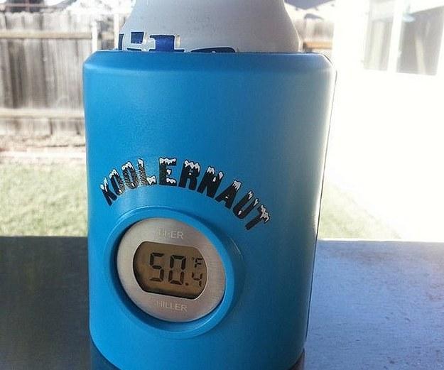 temperature controlled beer koozie
